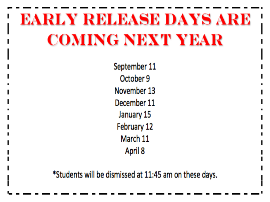 2019-20 Early Release Days