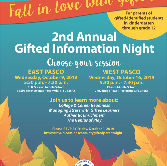 2nd Annual Gifted Information Night