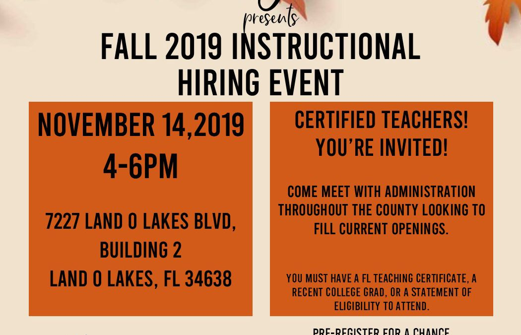 Upcoming Job Fairs