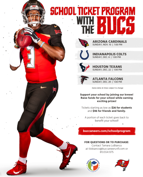 School Ticket Program with the Bucs