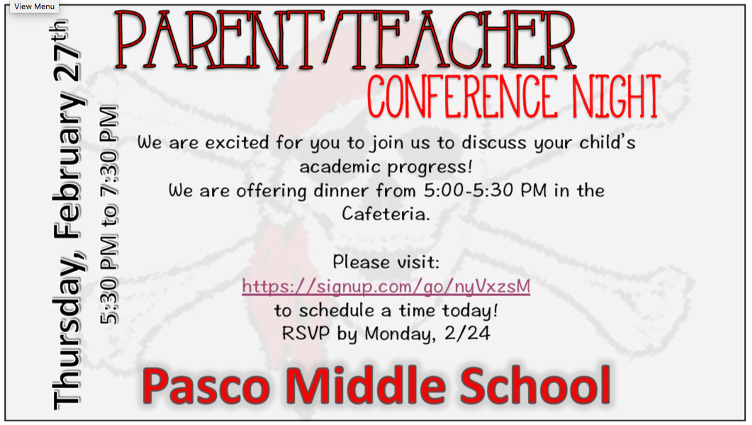 Parent / Teacher Conference Night – Feb 27th