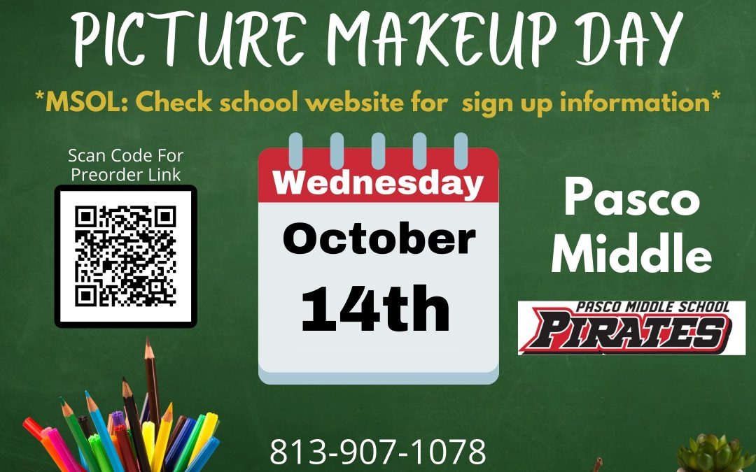 Picture Day Make Ups – October 14th