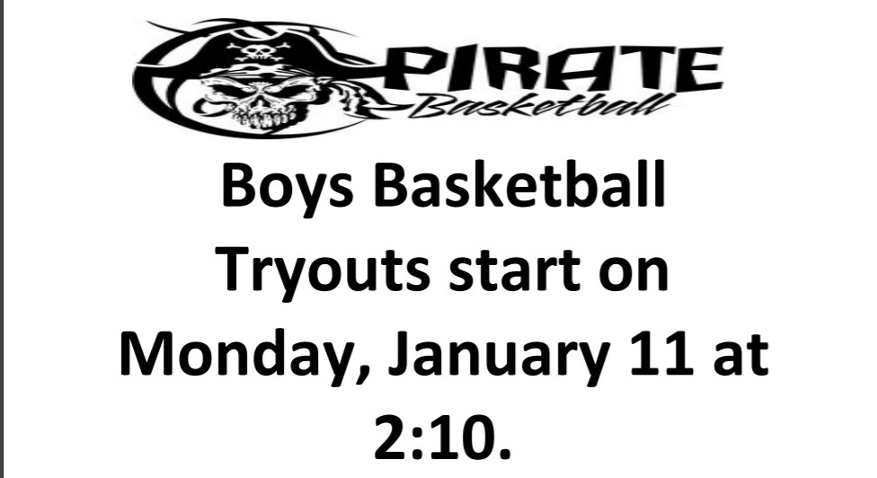 Boys Basketball Tryouts Begin January 11