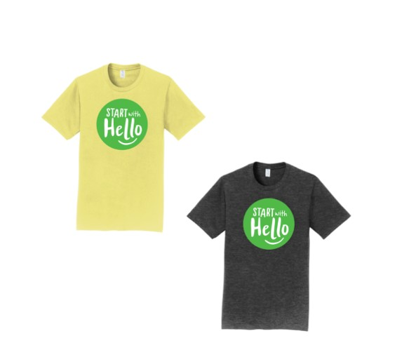'Start With Hello' T-Shirt Sales