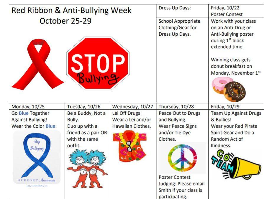Red Ribbon & Anti-Bullying Week 10/25 to 10/29